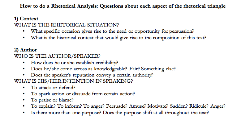 rhetorical analysis of student writing Rhetorical functions in academic writing: writing critically introduction it is important to be able to write decriptively you need to be able to define, describe, categorise and narrate.